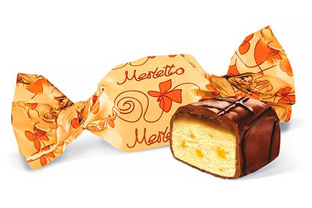 Merletto c курагой, карамелью, нугой в шоколаде