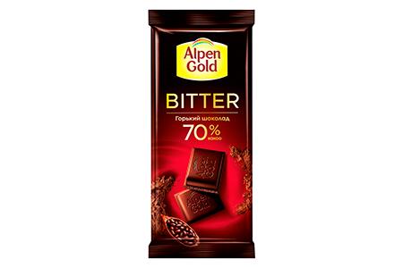 Alpen Gold BITTER горький шоколад 70% (Альпен Гольд)