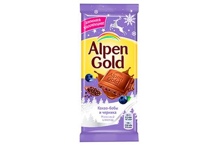 Alpen Gold какао-бобы и черника (Альпен Гольд)