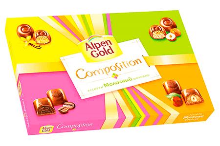 Alpen Gold Composition молочный ассорти шоколад (Альпен Гольд Композишн)