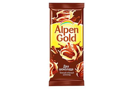 Alpen Gold два шоколада (Альпен Гольд темный и белый)