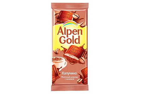 Alpen Gold капучино (Альпен Гольд) коричневый 90г