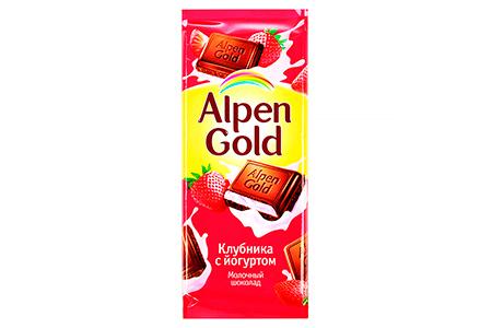 Alpen Gold клубника с йогуртом (Альпен Гольд) розовый
