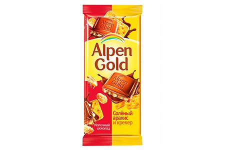 Alpen Gold соленый арахис и крекер (Альпен Гольд) желтый