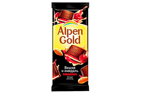 Alpen Gold вишня и миндаль (Альпен Гольд) темный