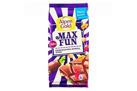 Alpen Gold MAX FUN взрывная карамель мармелад печенье (Альпен Гольд МАКС ФАН)