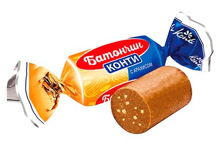 Батончик Konti (Конти) с арахисом и классический