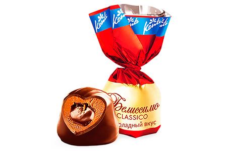 Белиссимо от Konti 6 видов Belissimo Classico: Бьянко, Шоколадный вкус, Крем-брюле, Originale с красной начинкой, День и Ночь
