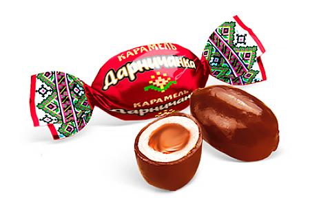 Карамель Дарничанка от Konti со вкусом какао в шоколадной глазури