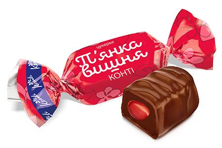 Пьяная Вишня в шоколаде от Konti (П'янка)