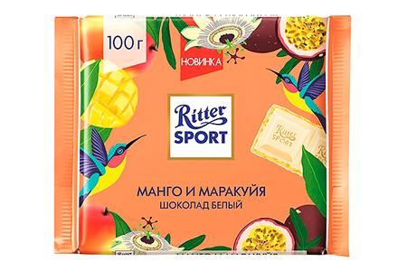 Белый шоколад Ritter Sport манго маракуйя (Риттер Спорт)