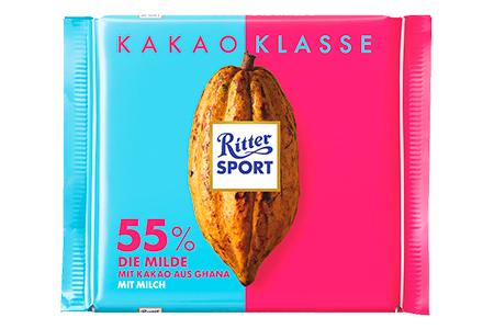 Ritter Sport 55% какао с мягким вкусом из Ганы
