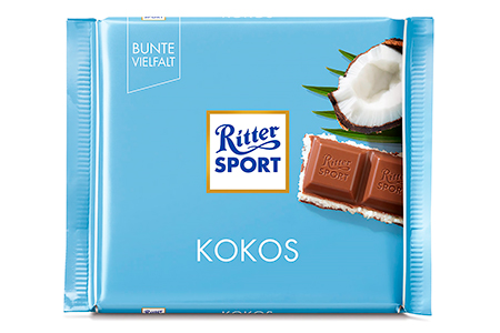 Ritter Sport с кокосом (Риттер Спорт)
