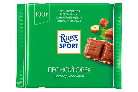 Ritter Sport лесной орех (Риттер Спорт) зеленый с фундуком