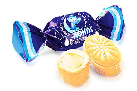 Карамель Конти Сливочная со вкусом сливок неглазированная