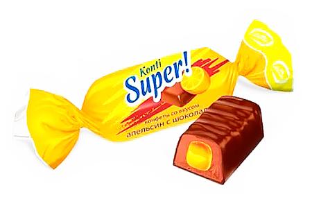 Super от Konti (Супер от Конти) со вкусом апельсина и молока