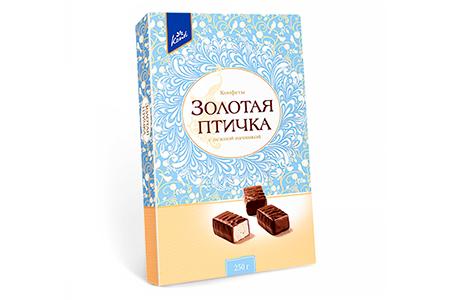 Суфле Золотая Птичка с нежной начинкой от Konti 250г (коробка конфет)