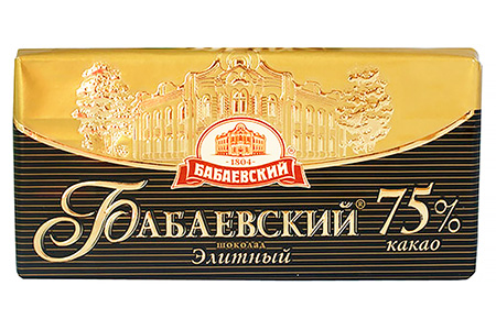 Горький шоколад Бабаевский Элитный 75%