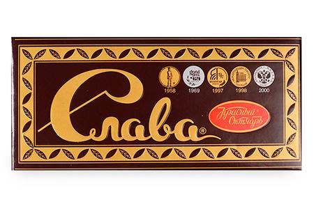 Темный пористый шоколад Слава (Красный Октябрь)