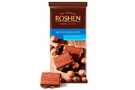 Шоколад Roshen (белый, молочный, темный) Рошен
