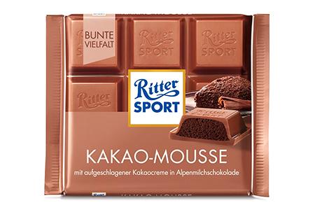 Ritter Sport шоколадный какао - мусс (Риттер спорт) молочный