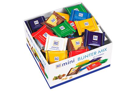 Ritter Sport mini Bunter MIX (Риттер Спорт мини Баттер микс) набор маленьких шоколадок в ассорти